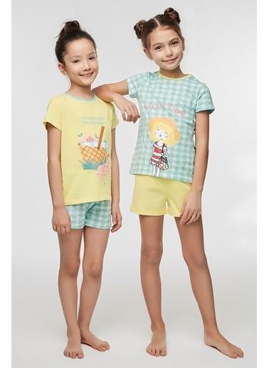 Penti Kız Çocuk Picnic Time 4Lü Pijama Takımı Renkli